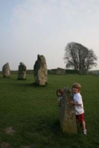 Avebury Stone Ring and my boys by Sarah Tranter